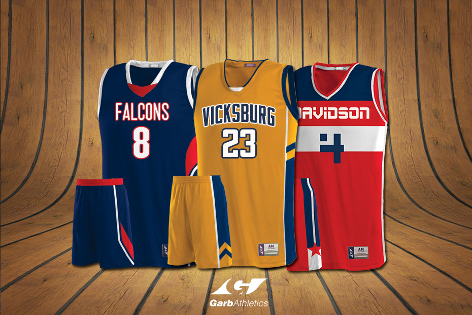 Basketball Uniforms  - just a few out of the hundreds of styles available
